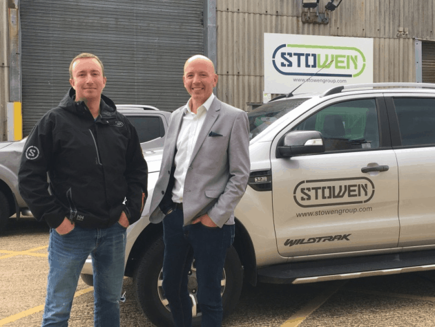 Colin Stewart (left) and Mathew Owen, directors of Stowen Group Ltd, at the company's premises in Lowestoft. Picture: Stowen