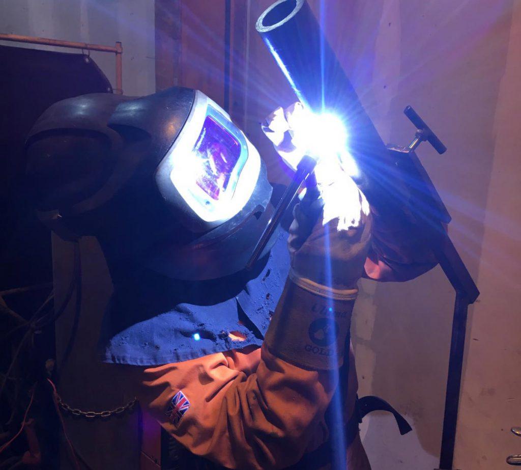 Close Up Of Stowen Welding Procedure